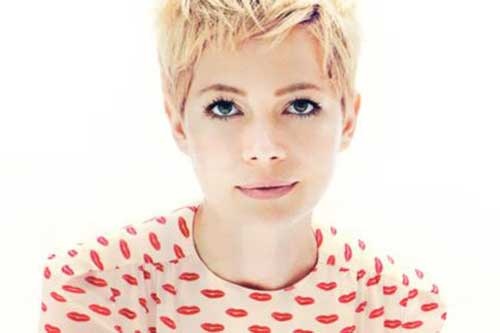 Michelle Williams Short Layered Pixie Haircuts