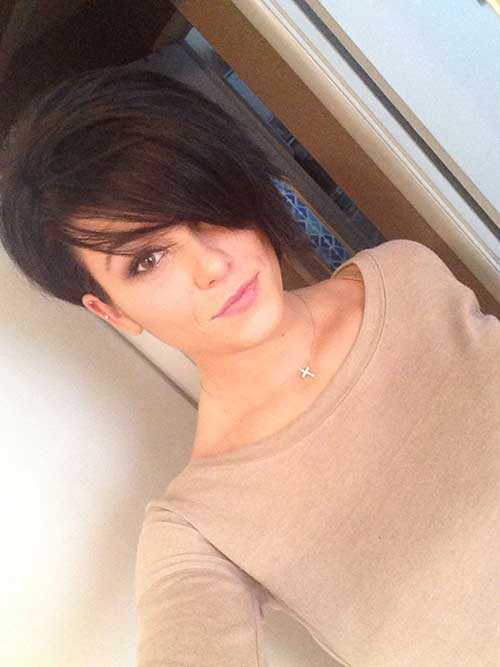 Dark Brown Pixie Color