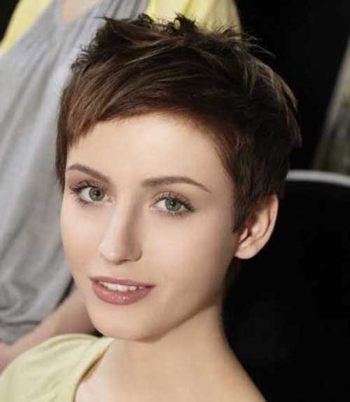 Pixie Cut Dark Brown Hair Color