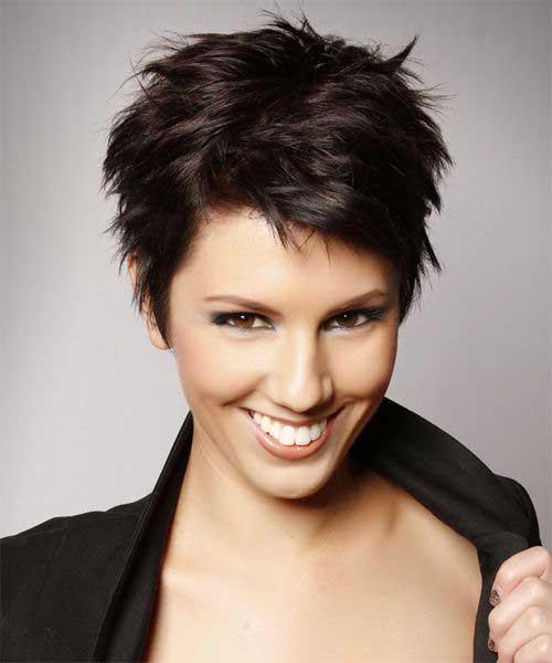 Pixie Cut Dark Color Ideas