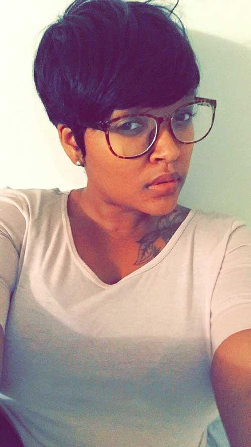 Very Short Pixie Cut on Black Hair