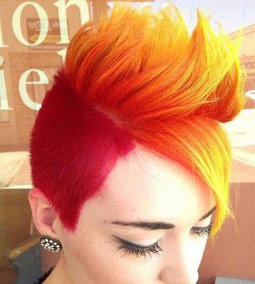 Short Pixie Fire Hair Color