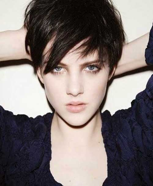 Chic Pixie Haircut Brunette