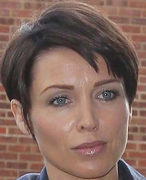 Razor Cut Brown Pixie Hair