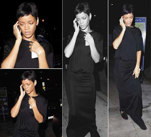 Rihanna Black Pixie Hairstyles