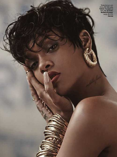 Rihanna Long Messy Pixie Hair