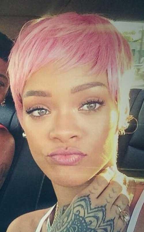 Rihanna Pink Pixie Haircuts