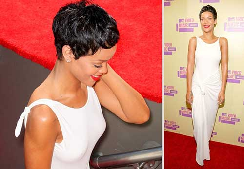 Rihanna Best Pixie Cut Hairstyles