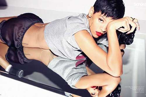 Rihanna Short Cut Pixie