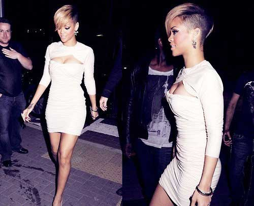 Rihanna Short Side Pixie Hair