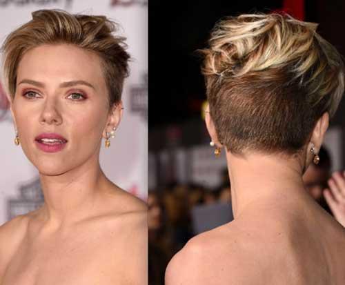 Scarlett Johansson Layered Pixie