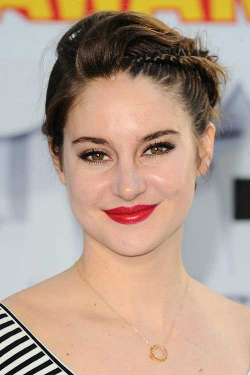 Shailene Woodley Braided Pixie Hair