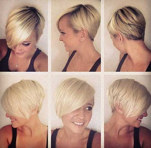 Short Blonde Chic Pixie Cuts