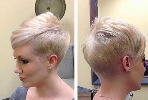 Short Blonde Straight Pixie Cuts