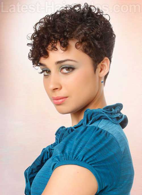 Best Short Curly Hair Pixie Style