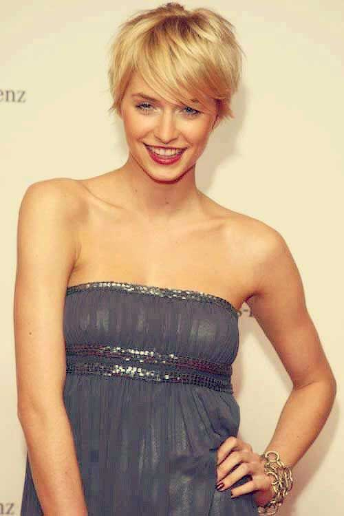 Short Hair Blonde Hair Pixie