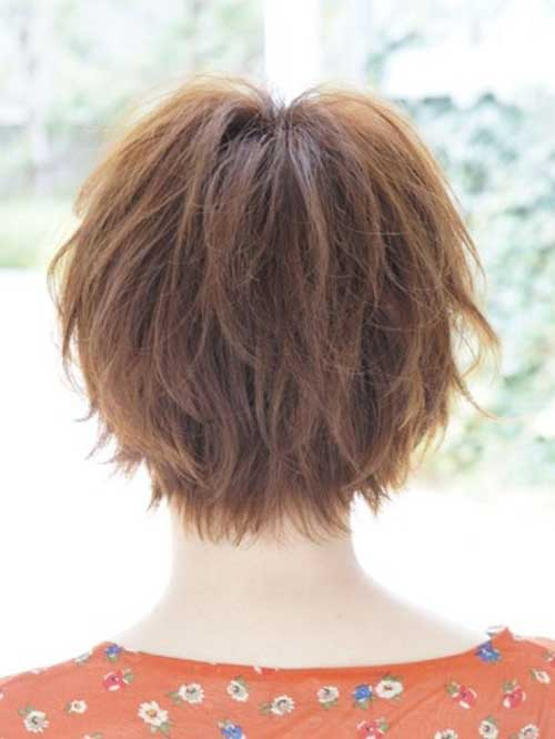 Best Short Layered Hairstyles Back View