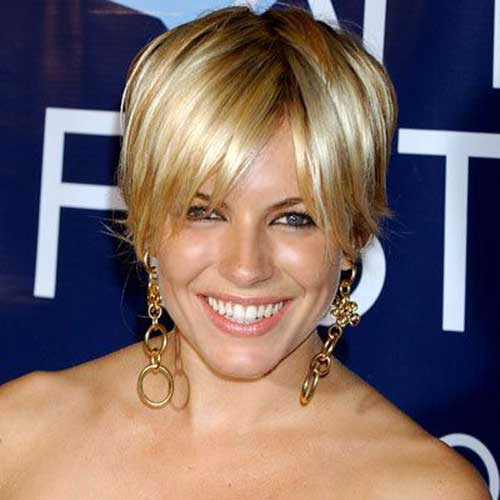 Short Nice Blonde Color Pixie Haircuts