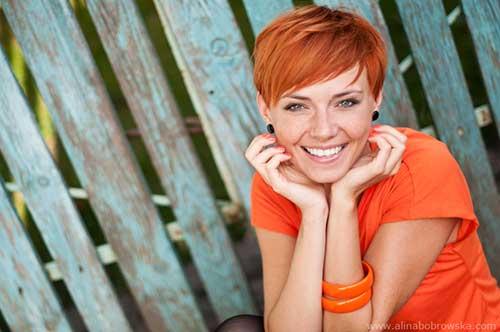 Short Orange Pixie Hair