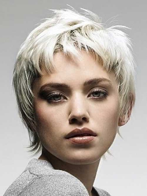Short Platinum Pixie Hairstyles