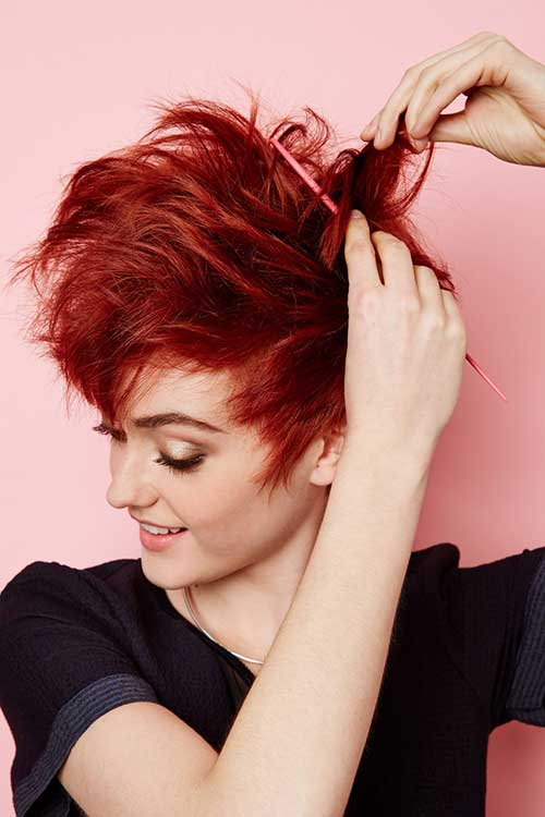 Short Red Hair Pixie Styles 2015