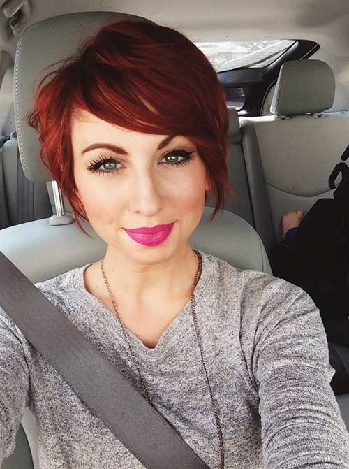 Short Red Pixie Hair