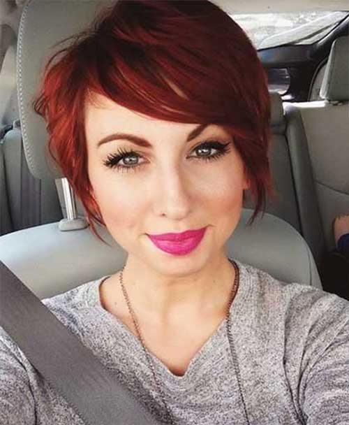 Short Red Pixie Hair Color Styles
