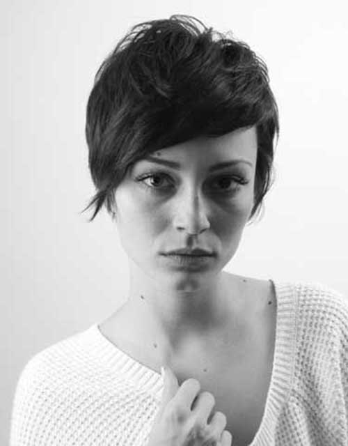 Short Thick Layered Pixie Hair