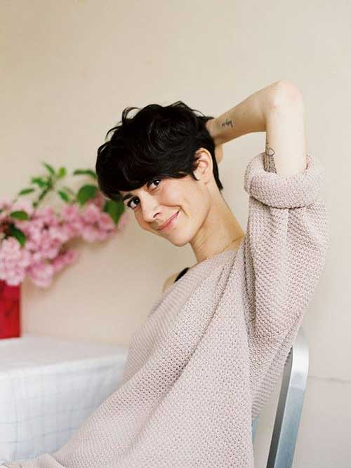 Cute Short Wavy Hair Pixie