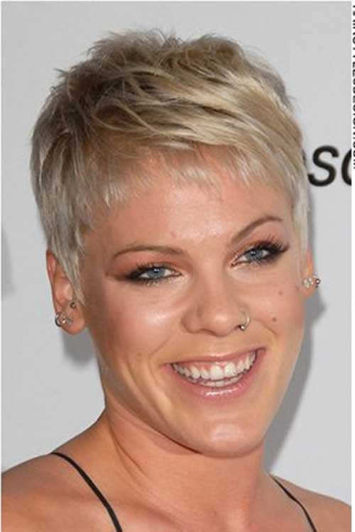 Singer Pink Pixie Hairstyles
