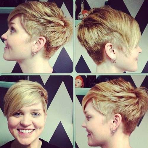 Straight Hair Layered Pixie Cuts