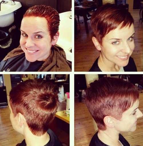 Straight Hair Very Short Pixie Haircut