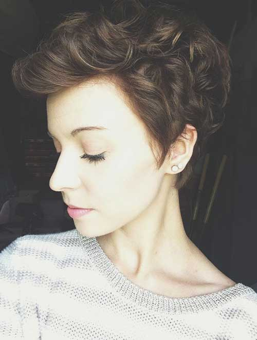 Stylish Curly Hair Pixie Cut