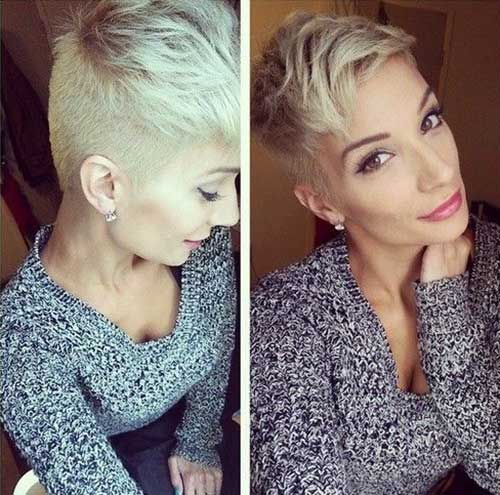 Stylish Blonde Pixie Haircuts
