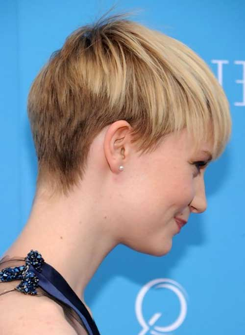 Thin Pixie Hairstyles Back View