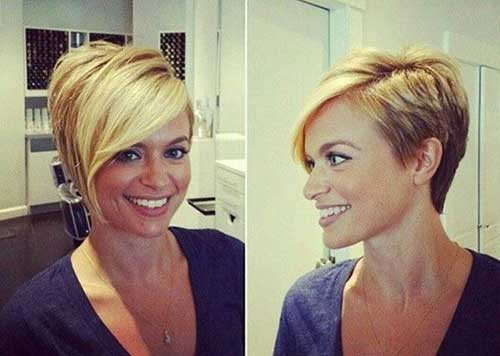 Trendy Blonde Pixie Cut