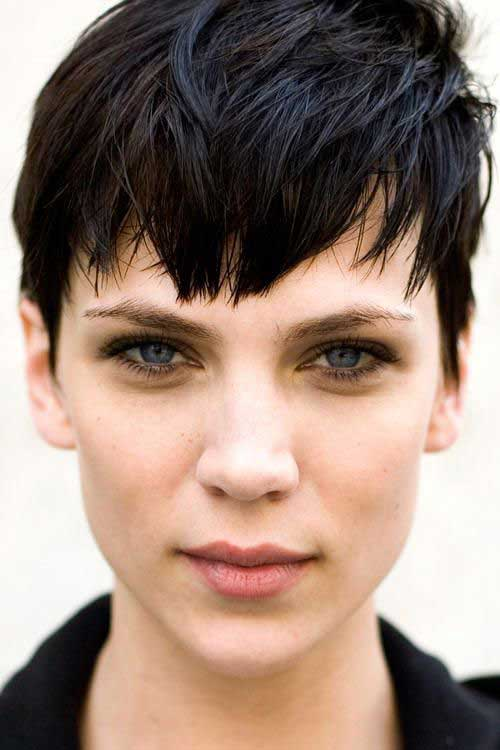 Best Trendy Dark Hair Pixie Cuts