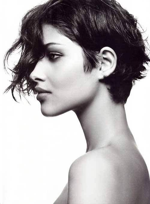Trendy Wavy Long Pixie Haircut