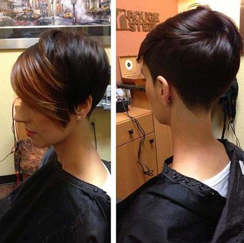 Two Colored Pixie Haircut Styles