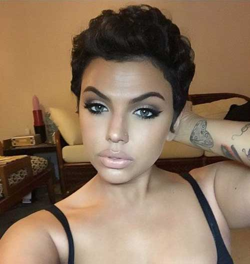 Black Women Dark Pixie Cuts