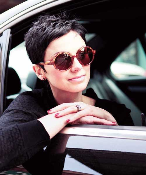 Very Short Dark Pixie Cuts 2015