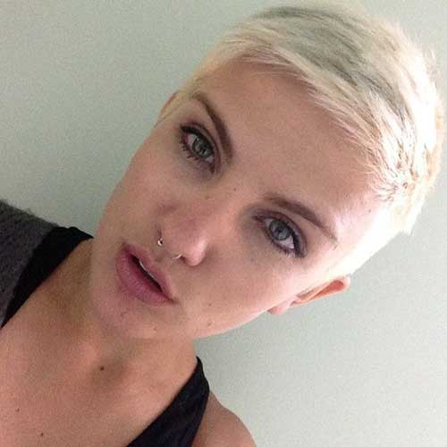 Very Short Blonde Pixie Haircuts