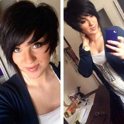 Asymmetrical Pixie Haircut