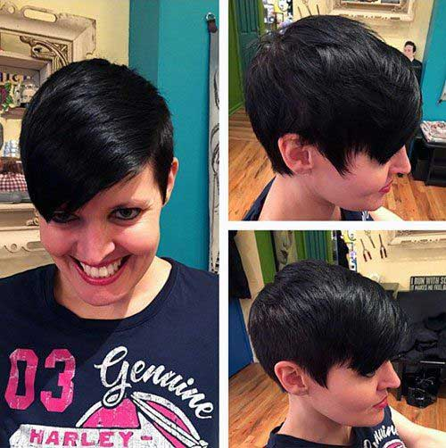 Asymmetrical Pixie Hairstyles