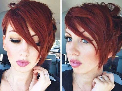 Red Hair Pixie Cut