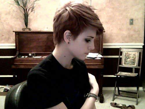 Brown Pixie Cuts