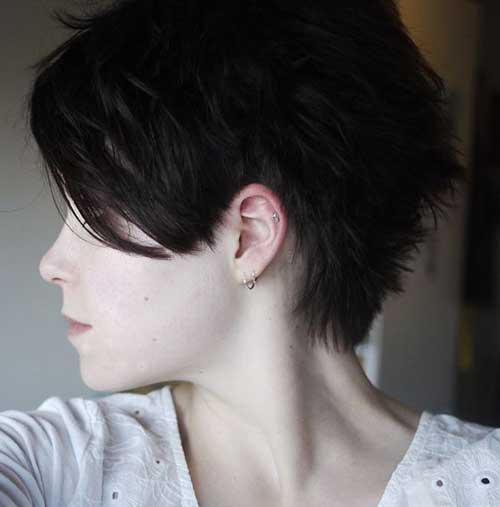 Brunette Pixie Haircuts