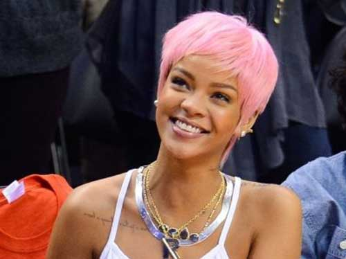 Pink Short Pixie Haircuts