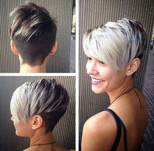 Short Blonde Pixie Crops