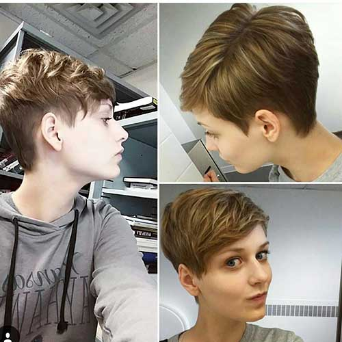 Short Edgy Pixie Cuts